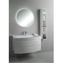 Meuble simple vasque GINGER 100 cm - Blanc Mat