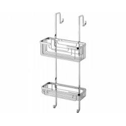 Porte-objets 2 bacs pour cabine de douche - Gedy - 5683