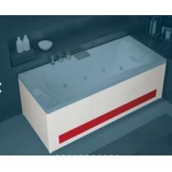 Tablier Façade en Bi-matière (Acrylique rouge) baignoires Kinedo - L170 cm