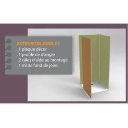 Pack extension angle DECOFAST 1P Blanc H2000 x L900mm