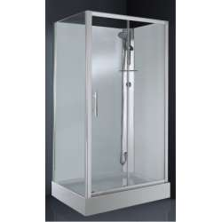 Cabine de douche CARAT 120x80 cm Thermostatique - Version Droite