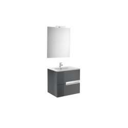 Meuble simple vasque Victoria-N Gris Anthracite brillant - 60 cm