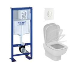 Pack WC Grohé Rapid SL + Cuvette KHEOPS Aquablade + Plaque Blanche