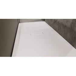 Receveur rectangulaire CUSTOM TOUCH Blanc Mat - Hauteur 3.5 cm - 100x80 cm