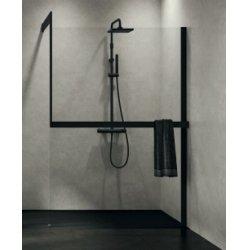 Système de fixation KIT-FRAME - Fixation au mur + Porte-serviette - Noir