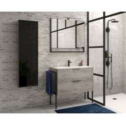 Meuble simple vasque FABRIK 104 cm Origine Chêne Gris