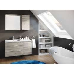 Meuble simple vasque MYTHIC 105 cm Origine Chêne gris