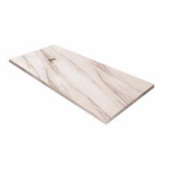 Receveur de douche MIRAGE Marbre Blanc - 70x100 cm