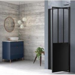 Porte de douche pivotante LOFT Steel 80 cm - Version Droite