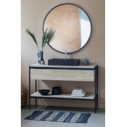 Meuble simple vasque BLACKLINE en Chêne Huilé Naturel - 109 cm