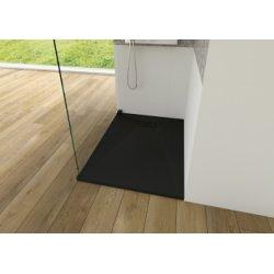 Receveur KINESURF+ Noir Mat - Bonde centrée sur la largeur - 70x120 cm