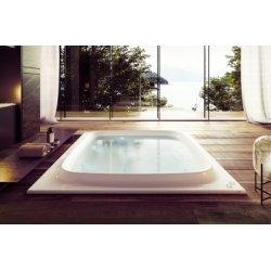 Baignoire SKYLINE 190x190 cm seule - Blanc brillant - Programme BASE