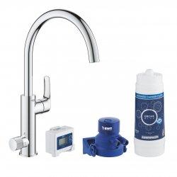 Mitigeur d'évier avec système de filtration de l'eau EUROSMART Blue Pure