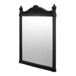 Miroir Rétro Aluminium Noir - 550x750 mm