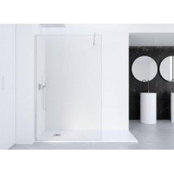 Paroi de douche fixe FADO Transparent - Argent - 80 cm