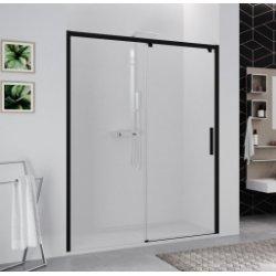 Paroi 1 porte coulissante KUADRA 2.0 2PH - Noir - Verre Transparent - Gauche - 100cm