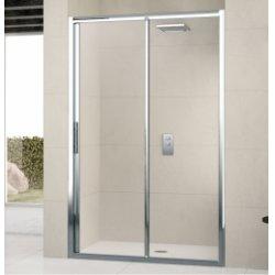 Porte de douche à 2 panneaux Lunes 2P 120cm Transparent Chromé