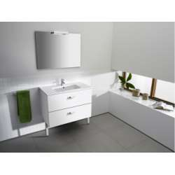 Meuble Simple Vasque Unik Victoria blanc 80cm ROCA