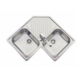 Evier de cuisine INOX d'angle EV 2431 inox lisse