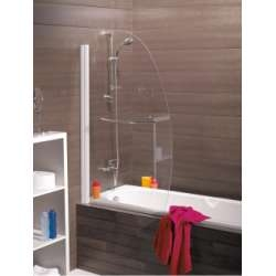 Pare-baignoire pivotant 90x140cm Nassau profilé Blanc