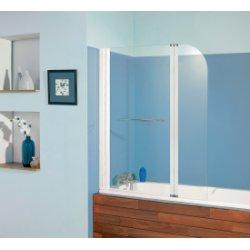 Pare-baignoire 2 panneaux pivotant et relevable 110x140cm Aqualift2