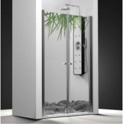 Porte de douche 2 panneaux battants impression Relax 60cm