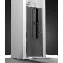 Porte de douche pivotante verre Fumé 50cm gauche