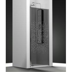 Porte de douche pivotante verre fumé sablé Splash 50cm gauche