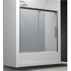 Paroi de baignoire Verre sablé Carglass 1 panneau coulissant 150cm version droite