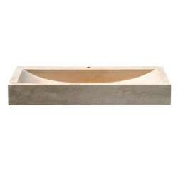 Vasque à poser en pierre rectangulaire sablé UC3205