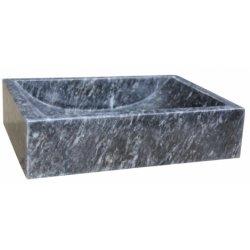Vasque à poser en pierre carré sablé UC3405
