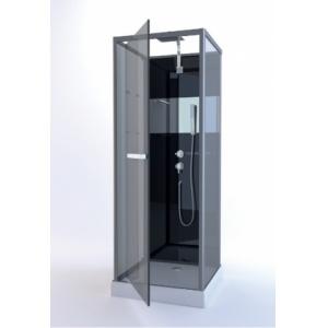 Cabine carrée PRADO Noir/Miroir