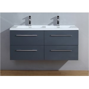 Meuble double vasque 120cm Saturn 2.0 Gris Brillant