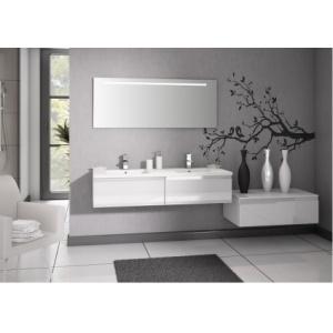 Meuble double vasque VOGUE/LOFT 140 Boréale Blanc