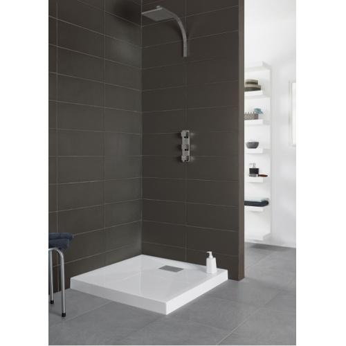 receveur de douche carr 90x90 kinecompact blanc. Black Bedroom Furniture Sets. Home Design Ideas