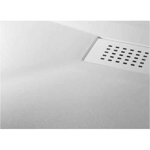 Receveur rectangulaire en Biocryl Kinesurf Blanc extra-plat - 70x90 Zoom revetement antiderapant