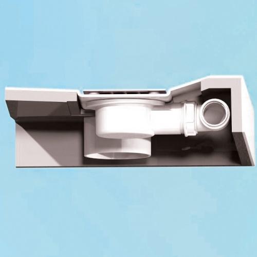 Receveur rectangle 70x120 en Biocryl Kinesurf Blanc LA Kinecompactcoupebonde