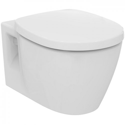 Pack WC Bâti-support Evo + Cuvette sans bride Connect + Plaque Blanche Is connect sans bride e817401
