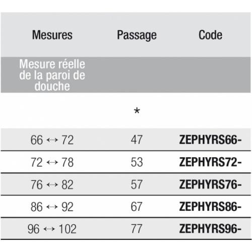 Porte Pliante Zephyros S 100cm Verre Transparent Profile Chrome