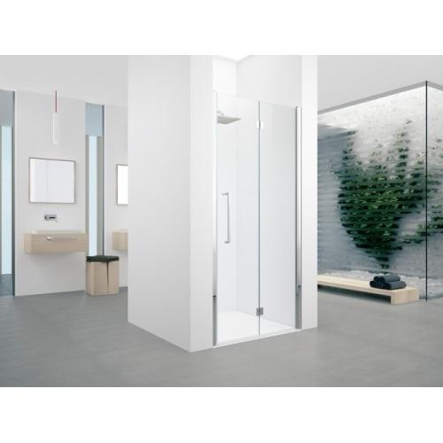 Porte pivotante et pliante Young 2.0 1BS 60cm Transparent Silver Droite 0 1bs droite nicchia