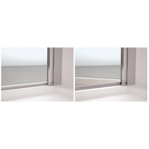 Porte pivotante et pliante Young 2.0 1BS 60cm Transparent Silver Droite 0 barre de seuil inclus