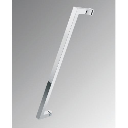 Paroi d'angle Young 2.0 GS+F gauche 80x80cm Transparent Silver 0 poignée