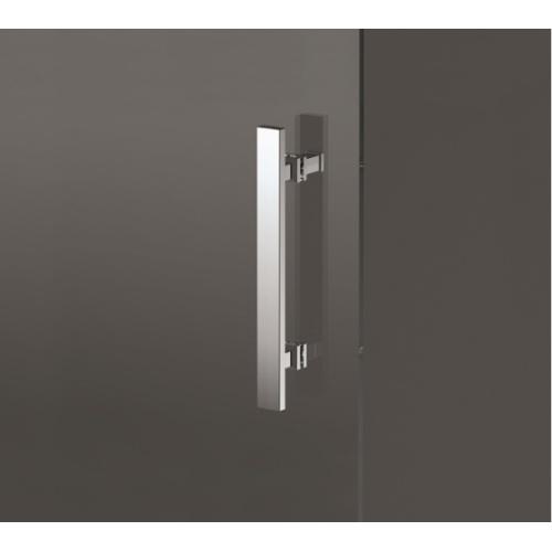 Porte pivotante Zephyros G 70cm verre Transparent, profilés Silver Zephyros maniglia 1