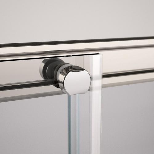 Porte coulissante Zephyros 2A 150cm verre Transparent, profilés Silver Zephyros cuscinetto