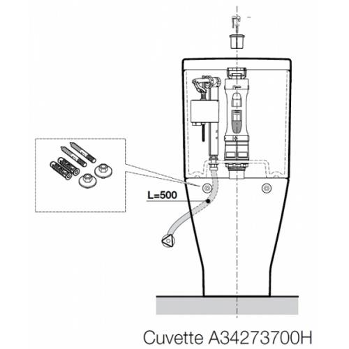 Pack WC sortie Duale CleanRim The Gap Compact Roca Cleanrim cote2