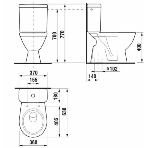 Pack wc Lyra Plus 3/6L Sortie Verticale Lyra plus sv