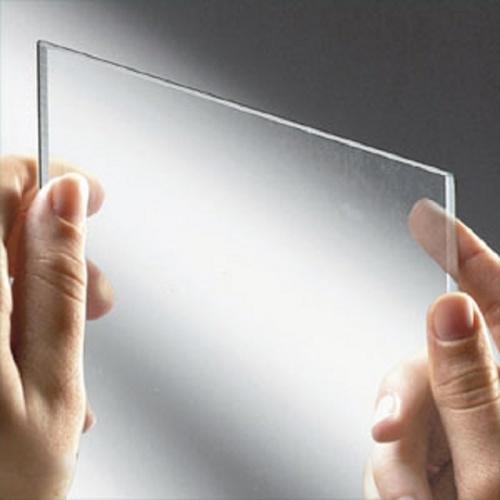 Porte coulissante Zephyros 2P 100 cm, verre transparent, profilés Silver VERRE TRANSPARENT