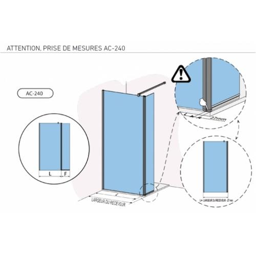 Paroi fixe + volet impression IMAGIK Nuages 90+35cm Gauche Ac 240 détails