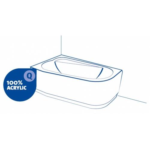 Baignoire rectangulaire 160x75 Intro sans tablier 100 acrylique