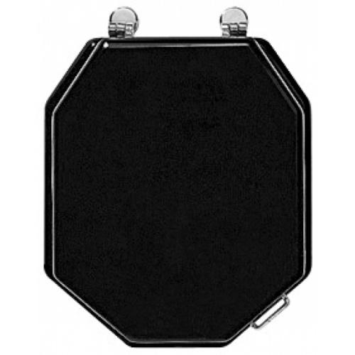 Pack WC rétro noir Ascott sortie duale Ascott ceramique noir 68717 abattant